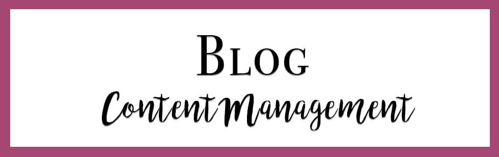 Blog Content Managment
