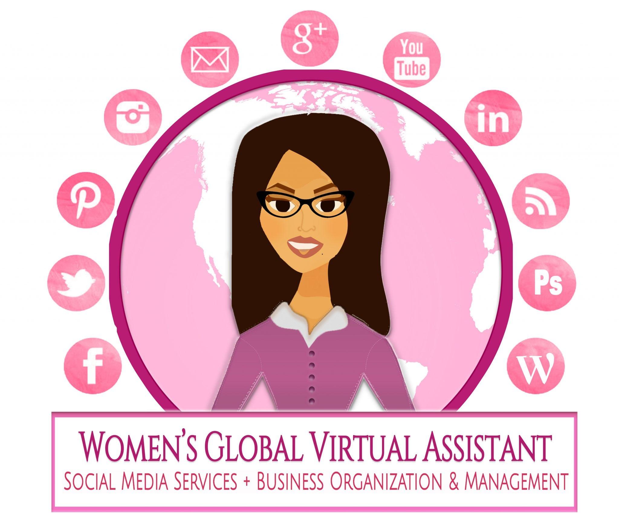 Women's Global Virtual Assistant Social Media Services+ Business Organization & Management