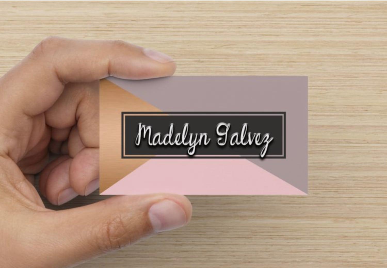 Copper Pink Grey Business Cards for Female Entrepreneurs