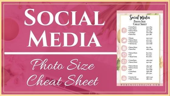 Social Media Photo Size Cheat Sheet