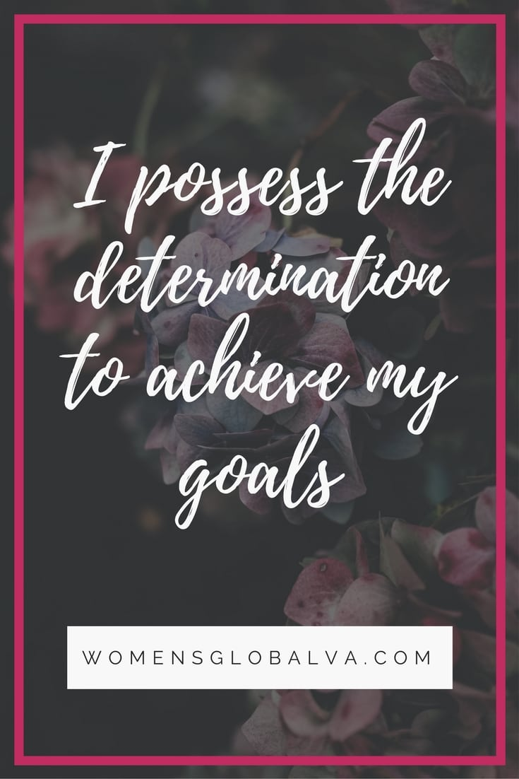 determination to achieve goals