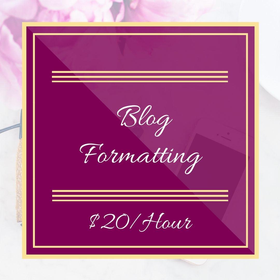 Blog Formatting