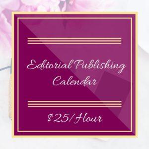 Editorial Publishing Calendar