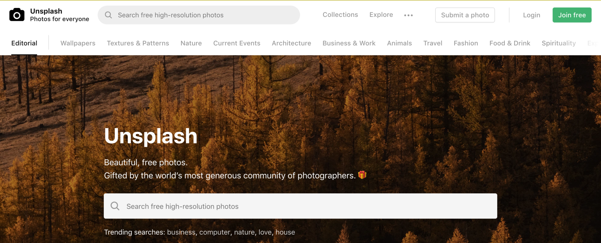 unsplash stock photos