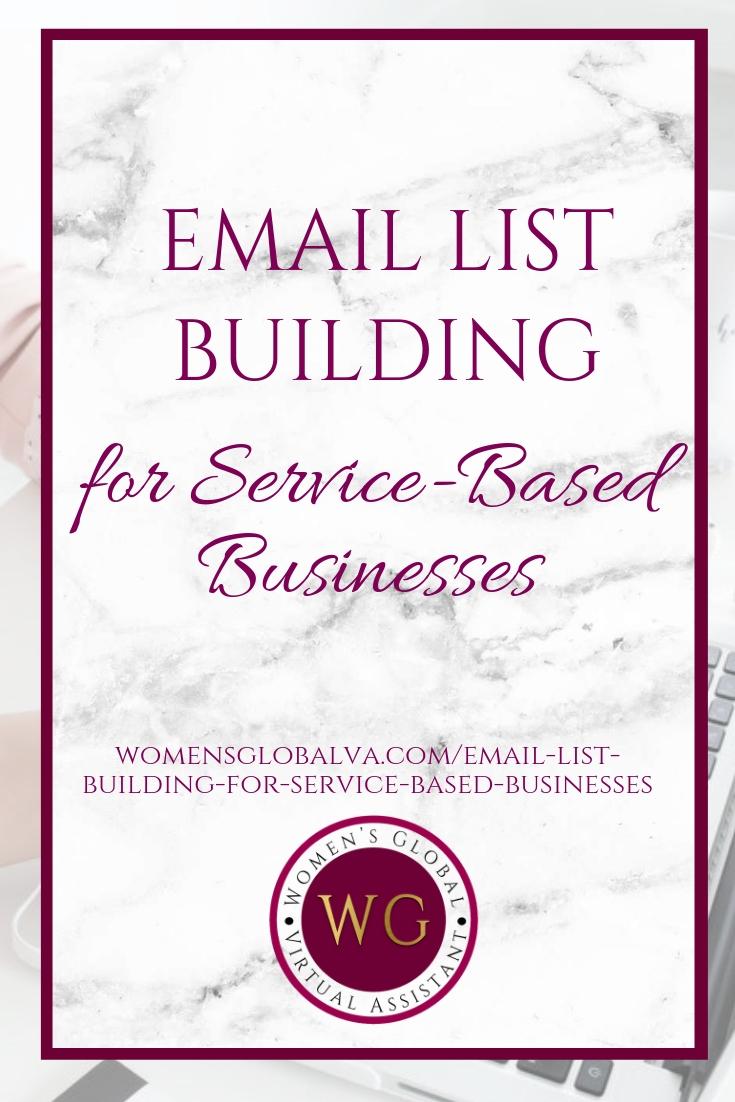 Email List Building for Service Based Businesses Blog