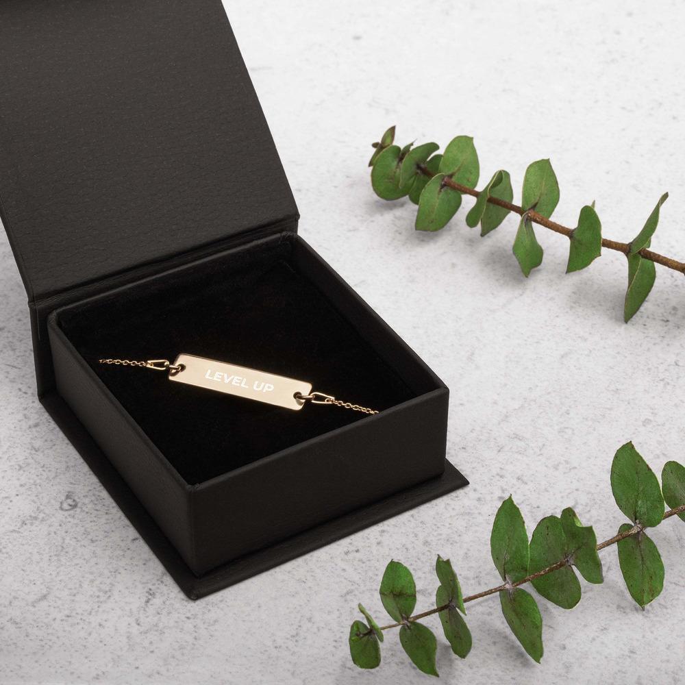 Engraved Golden Level Up Bracelet