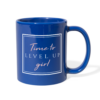 Royal Blue Time to Level Up Mug