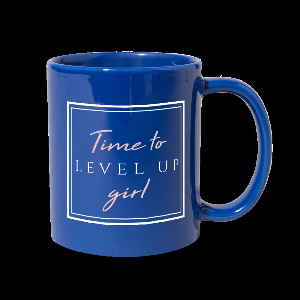 Royal Blue Time to Level Up Mug